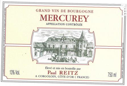 Mercurey - Maison Paul Reitz - 2016 - Rouge