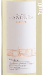 CHÂTEAU D'ANGLÈS CLASSIC - Château d'Anglès - Non millésimé - Blanc