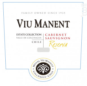 Estate collection reserva - cabernet sauvignon - Viu Manent - 2018 - Rouge