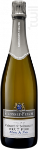 Crémant de Bourgogne Brut P100 Blanc de Noir - Simonnet Febvre - Non millésimé - Effervescent