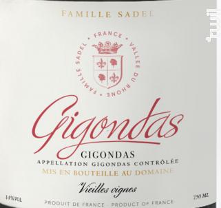 Gigondas - Famille Sadel - 2017 - Rouge