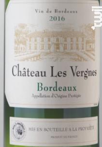 Bordeaux Blanc - Château Les Vergnes - 2017 - Blanc