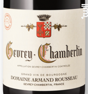 GEVREY CHAMBERTIN - Domaine Armand Rousseau - 2008 - Rouge