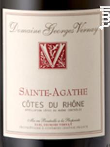 Sainte Agathe - Domaine Georges Vernay - 2016 - Rouge
