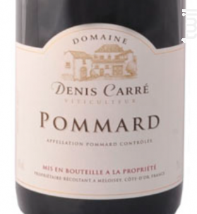Pommard - Domaine Denis Carré - 2013 - Rouge