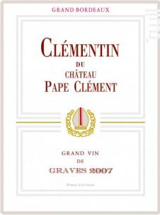 Le Clémentin de  Pape Clément - Château Pape Clément - 2018 - Rouge
