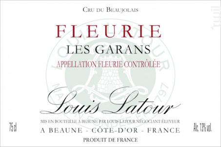 Fleurie les Garans - Maison Louis Latour - 2015 - Rouge