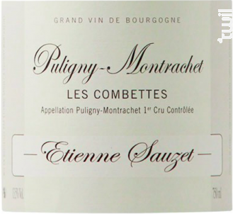 Puligny-Montrachet Premier Cru Combettes - Domaine Etienne Sauzet - 2015 - Blanc