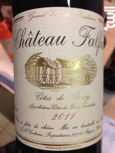 Château Falfas - Château Falfas - 2014 - Rouge