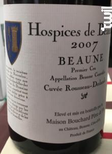 Beaune Cuvée Rousseau Deslandes - Hospices de Beaune - 1990 - Rouge