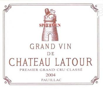 Château Latour - Château Latour - 2004 - Rouge