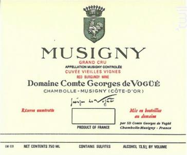 Musigny Grand Cru - Domaine Comte Georges de Vogüé - 2018 - Rouge