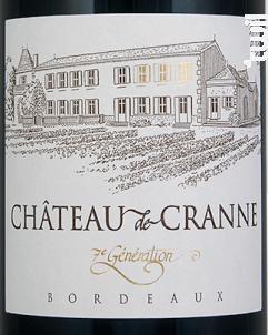 Château de Cranne - 7ème Génération - Château de Cranne - 2014 - Rouge