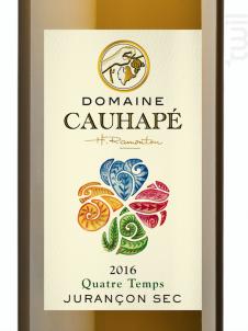 Quatre temps - Domaine Cauhapé - 2017 - Blanc