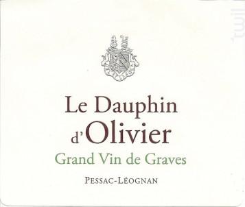 Le Dauphin d'Olivier - Château Olivier - 2015 - Blanc