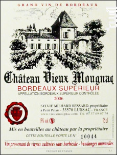 Château Vieux Mougnac - Château Vieux Mougnac - 2012 - Rouge