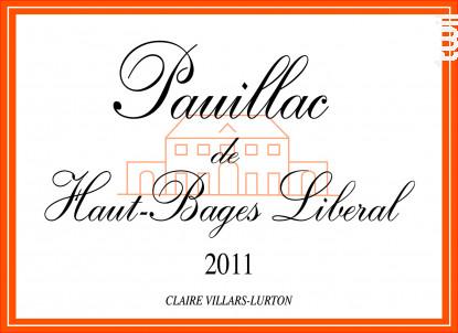 Pauillac de Haut-Bages Libéral - Château Haut-Bages Libéral - 2011 - Rouge