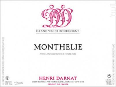 Monthélie - Domaine Henri Darnat - 2016 - Rouge