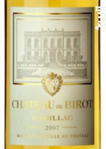 Château de Birot Liquoreux - Château de Birot - 2015 - Blanc