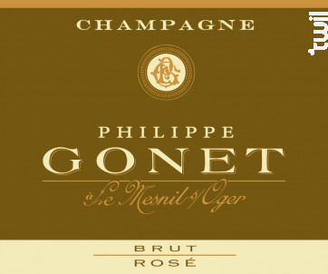 Rosé Brut - Champagne Philippe GONET - Non millésimé - Effervescent