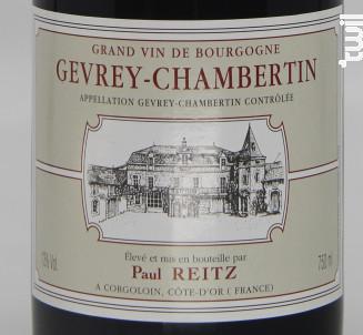 Gevrey Chambertin - Maison Paul Reitz - 2016 - Rouge
