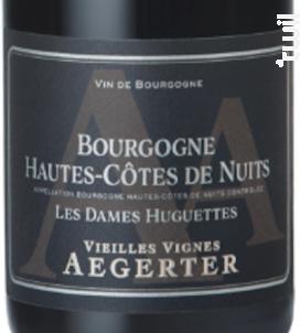 Bourgogne Hautes-Côtes de Nuits Les Dames Huguettes - Jean Luc et Paul Aegerter - 2014 - Rouge