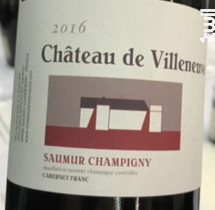 Saumur Champigny - Château de Villeneuve - 2016 - Rouge