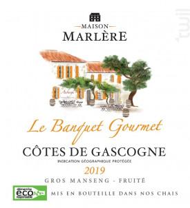 Le Banquet Gourmet - Moelleux - Maison Marlère - 2019 - Blanc