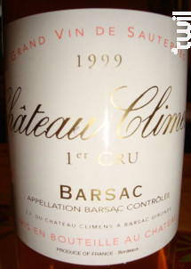Château Climens - Château Climens - 1999 - Blanc