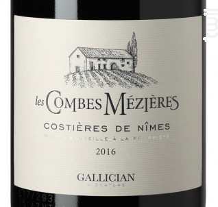 LES COMBES MEZIÈRE - La Cave de Gallician - 2017 - Rouge
