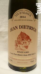Pinot Gris - Cuvée Parcellaire - Dietrich Jean & Fils - 2018 - Blanc