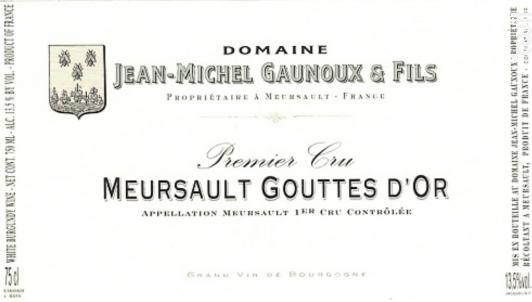 MEURSAULT 1er cru La Goutte d'Or - Domaine Jean-Michel Gaunoux - 2014 - Blanc