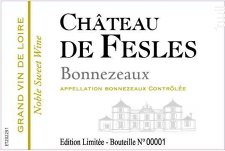 BONNEZEAUX - Château de Fesles - 2011 - Blanc