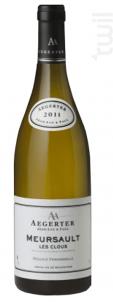 Meursault Les Clous - Jean Luc et Paul Aegerter - 2016 - Blanc