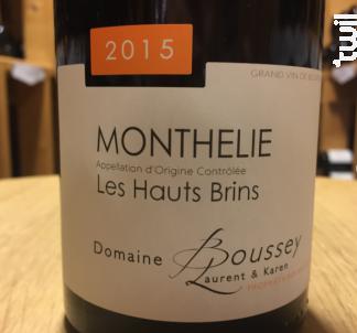 Monthélie - Hauts Brins - Domaine Laurent Boussey - 2015 - Rouge