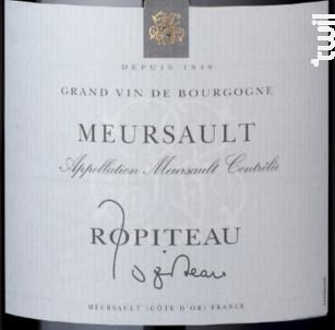 Meursault - Ropiteau Frères - 2016 - Rouge