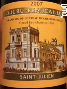 Château Ducru Beaucaillou - Château Ducru-Beaucaillou - 2007 - Rouge