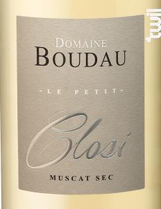 Petit Closi Muscat Sec - Domaine BOUDAU - 2018 - Blanc