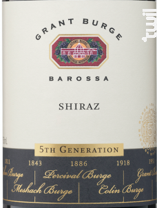 5th generation - shiraz - GRANT BURGE - 2016 - Rouge