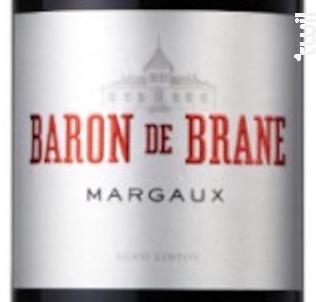 Baron de Brane - Château Brane Cantenac - 2018 - Rouge