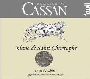 Blanc de Saint Christophe - Domaine de Cassan - 2019 - Blanc