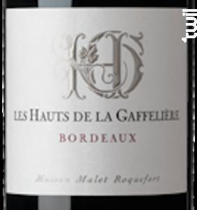 Les Hauts De La Gaffelière - Bordeaux - Les Hauts de la Gaffelière - 2010 - Rouge