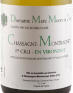 CHASSAGNE MONTRACHET 1er cru En Virondot - Domaine Marc Morey - 2017 - Blanc