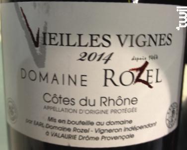 Vieilles Vignes - Domaine Rozel - 2016 - Rouge