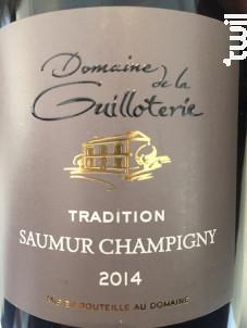 Tradition - Domaine de la Guilloterie - 2015 - Rouge