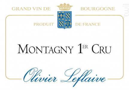 Montagny Premier Cru - Maison Olivier Leflaive - 2015 - Blanc