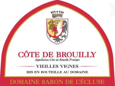 Côte de Brouilly - Vieilles Vignes - Domaine Baron de l'Ecluse - 2017 - Rouge