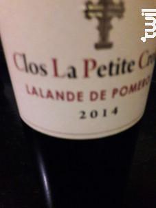 Clos la Petite Croix - Vignobles Brunot - Clos La Petite Croix - 1983 - Rouge