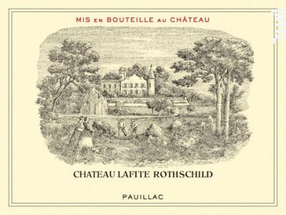 Château Lafite Rothschild - Domaines Barons de Rothschild - Château Lafite Rothschild - 2014 - Rouge