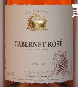 Cabernet Rosé - Anne Dexemple et les Héritiers A.D. - 2018 - Rosé
